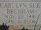 Profile photo:  Carolyn Sue Beckham