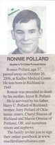 "Ronald Lynn ""Ronnie"" Pollard"