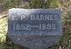"Franklin Pierce ""Frank"" Barnes"