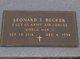 Profile photo:  Leonard S. Becker