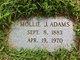 Profile photo:  Millie J. Adams