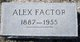 Profile photo:  Alex Factor