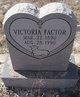 Profile photo:  Victoria Factor