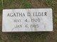 Profile photo:  Agatha Daphene Elder