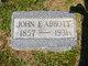 Profile photo:  John F. Abbott