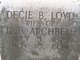 Profile photo:  Decie Isabella <I>Lloyd</I> Archbell