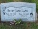 Betty Jane <I>Sellwood</I> Lans