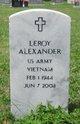 Profile photo:  Leroy Alexander