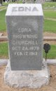 Profile photo:  Edna <I>Browning</I> Churchill