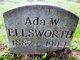 "Profile photo:  Ada Whidtredge ""Mary"" Ellsworth"