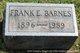 Profile photo:  Frank E. Barnes