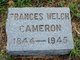 Profile photo:  Frances Welch Cameron