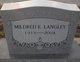Mildred E <I>Lammons</I> Langley