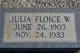 Julia Floice <I>White</I> Duncan