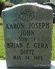 Profile photo:  Aaron Joseph John Dietz