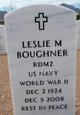 Profile photo:  Leslie M. Boughner