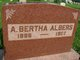 Profile photo:  A. Bertha Albers