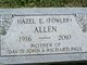 Profile photo:  Hazel Edith <I>Fowler</I> Allen