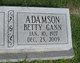 Betty Sue <I>Gann</I> Adamson