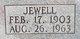 Profile photo:  Annie Jewell <I>Webb</I> Melton