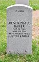 Profile photo:  Beverlyn A Baker