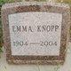 Emma <I>Sackman</I> Knopp