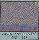 Profile photo:  Karen Ann Burgess