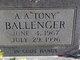 "Profile photo:  A. A. ""Tony"" Ballenger"