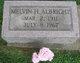 Profile photo:  Melvin Henry Albright