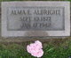 Profile photo:  Alma Edith <I>Foster</I> Albright