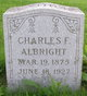 Profile photo:  Charles Frank Albright