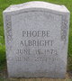 Profile photo:  Phoebe Albright