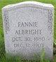 Profile photo:  Fannie Albright