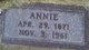 Annie <I>Sutter</I> Anderson