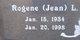 "Profile photo:  Rogene L. ""Jean"" Austin"