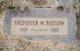 Frederick W Bossow