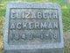 Profile photo:  Elizabeth <I>Smith</I> Ackerman