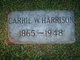 Profile photo:  Carrie Walton <I>Parham</I> Harrison