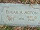 Profile photo:  Edgar Allen Acton