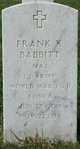 Profile photo:  Frank Kenneth Babbitt