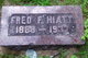 "Frederick Frances ""Fred"" Hiatt"
