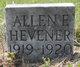 Profile photo:  Allen F. Hevener