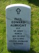 Paul Edward Albright