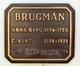 Anna <I>King</I> Brugman
