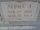 Profile photo:  Alpha <I>Ashby</I> Lawson