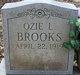 Ozie L Brooks