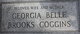 Georgia Belle <I>Brooks</I> Coggins