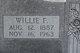 Willie F Coggins