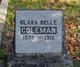 Profile photo:  Clara Belle Coleman