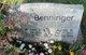 Profile photo:  Agnes B <I>Sweeney</I> Benninger